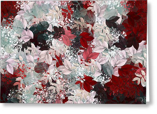 Nature Abstracts Greeting Cards - Naturaleaves - s69-02a Greeting Card by Variance Collections