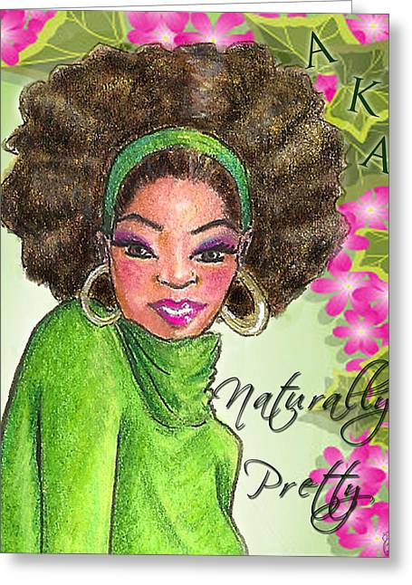 Hoops Mixed Media Greeting Cards - Naturally Pretty Greeting Card by BFly Designs