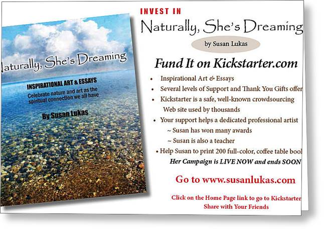 Healing And Hopeful Greeting Cards - Naturally Shes Dreaming Greeting Card by Susan Lukas