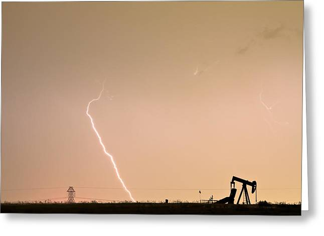 Storm Prints Photographs Greeting Cards - Nature - Power and Oil Greeting Card by James BO  Insogna