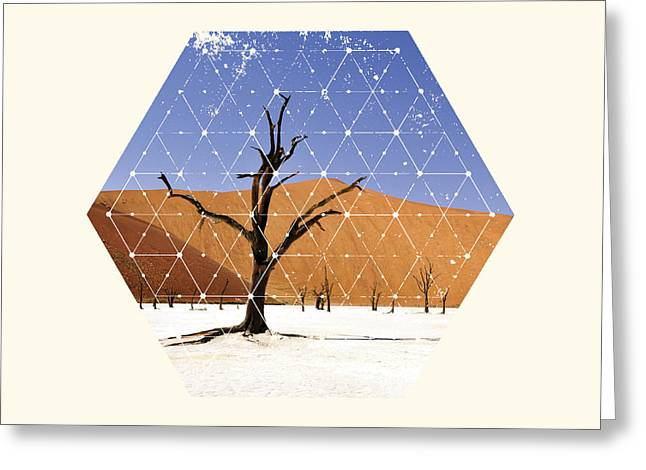 Sand Patterns Greeting Cards - Nature and Geometry - The tree Greeting Card by Denis Marsili