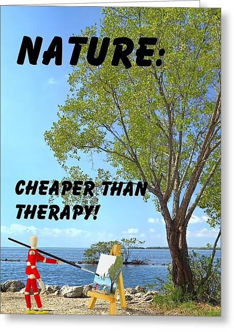 Rehabilitation Greeting Cards - Nature art quote Greeting Card by Rudy Umans