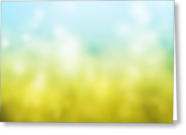 Background Paintings Greeting Cards - Nature Greeting Card by Atiketta Sangasaeng