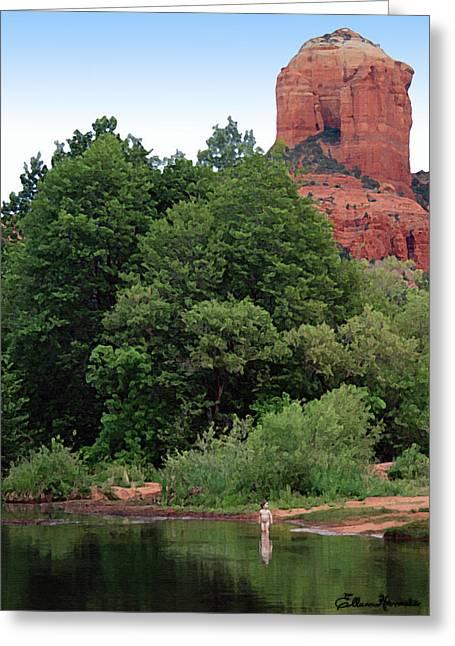 Oak Creek Paintings Greeting Cards - Nature Boy Greeting Card by Ellen Henneke