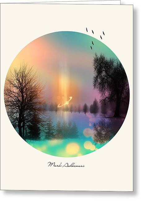 River View Digital Art Greeting Cards - Nature By The Tree  Greeting Card by Mark Ashkenazi