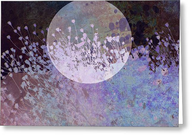 Nature Phots Greeting Cards - Nature Collage in Blue Greeting Card by Ann Powell