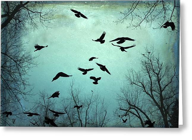 Gothicrow Greeting Cards - Nature In Motion Greeting Card by Gothicolors Donna Snyder