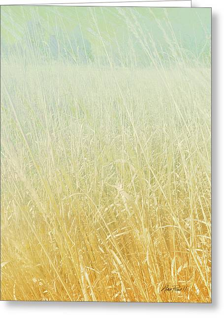 Pale Colors Greeting Cards - Nature  Landscape Tall Grass Prairie Winter by Ann Powell Greeting Card by Ann Powell