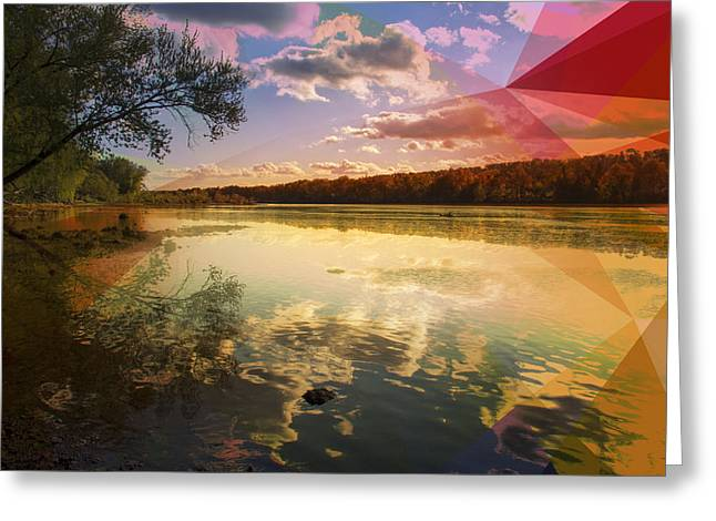 Polygon Greeting Cards - Nature Greeting Card by Mark Ashkenazi
