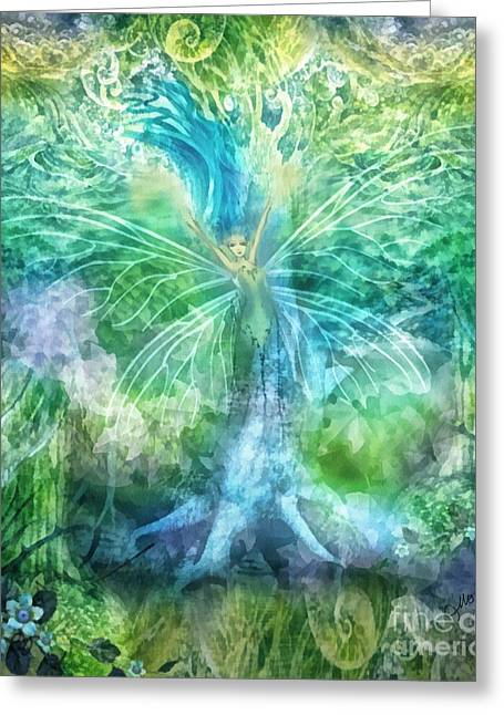 Power Plants Mixed Media Greeting Cards - Nature Greeting Card by Mo T