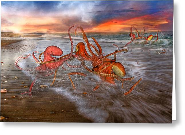 Invertebrates Greeting Cards - Nature of the Game Greeting Card by Betsy C  Knapp