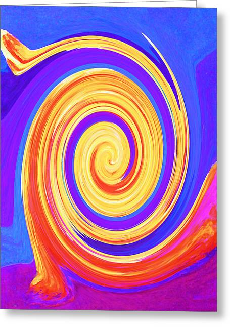 Nature Abstract Greeting Cards - Nature Twirling Greeting Card by Margaret Saheed