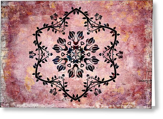Symmetrics Greeting Cards - Nature Vibe Mandala - s03bt03d Greeting Card by Variance Collections