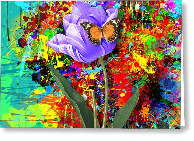 Abstract Butterfly Greeting Cards - Nature vs Caos Greeting Card by Gary Grayson