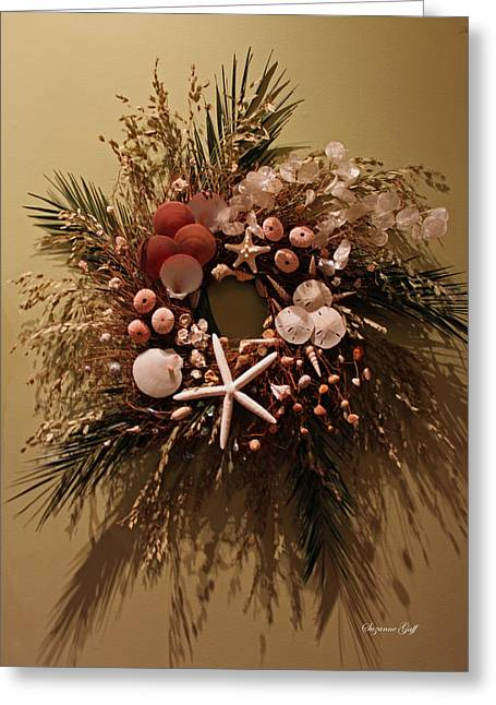 Starfish Posters Greeting Cards - Nature Wreath II Greeting Card by Suzanne Gaff