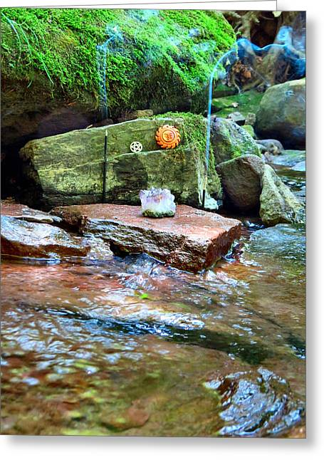 Natures Altar Greeting Card by Michelle Milano
