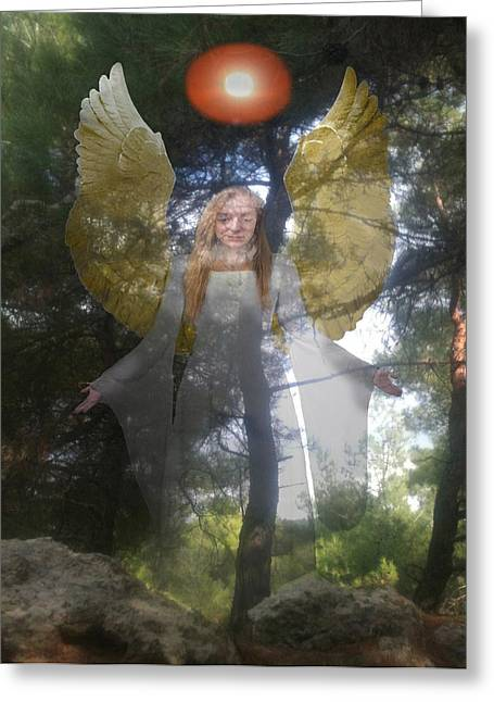 Eric Kempson Greeting Cards - Natures Angel Greeting Card by Eric Kempson