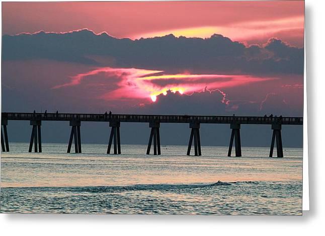 Panama City Beach Greeting Cards - Natures Art Greeting Card by Lorah Buchanan