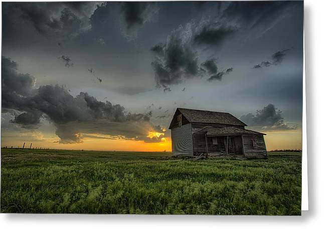 Field. Cloud Greeting Cards - Natures Beautiful Fury Greeting Card by Thomas Zimmerman