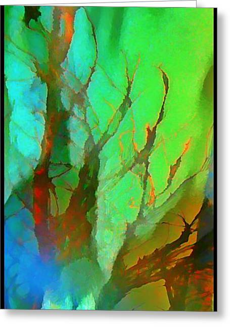 Natures Beauty Abstract Greeting Card by John Malone