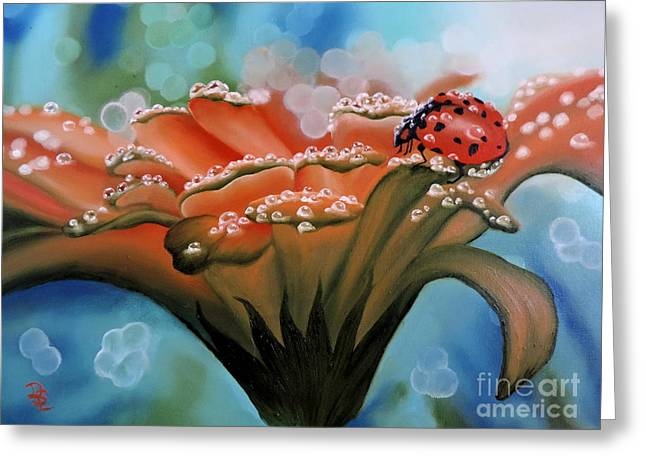 Bug Framed Prints Greeting Cards - Natures Blessings Greeting Card by Dianna Lewis