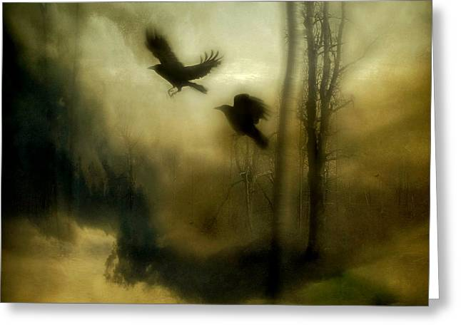 Vinatge Greeting Cards - Natures Blur Greeting Card by Gothicolors Donna Snyder