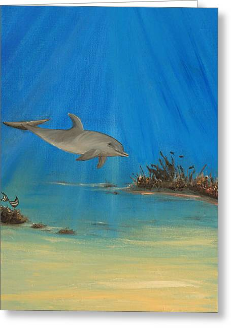Sun Rays Paintings Greeting Cards - Natures Table 2 Greeting Card by Delia Birnhak Swenson