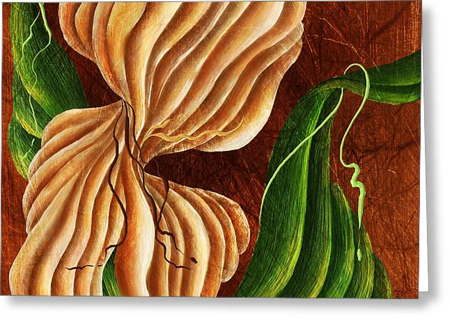 Textured Floral Greeting Cards - Natures Curves Greeting Card by Brenda Bryant