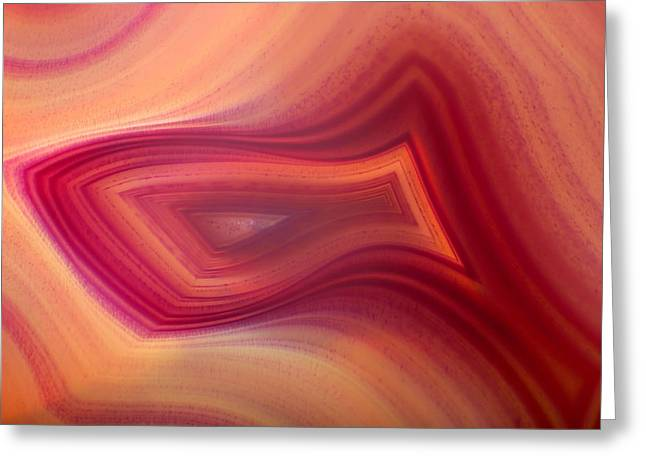 Agate Greeting Cards - Natures Design Greeting Card by David and Carol Kelly