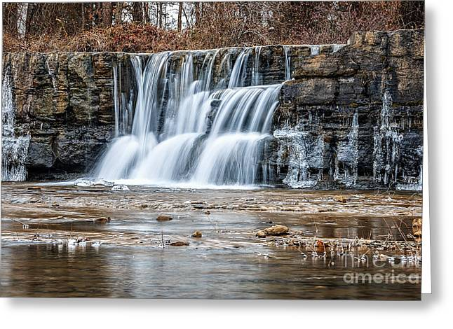 Arkansas Greeting Cards - Natures Falls Greeting Card by Larry McMahon