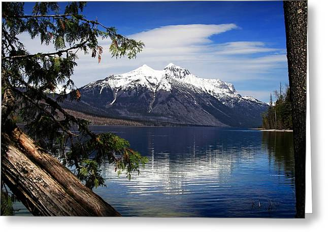 Montana Landscapes Photographs Greeting Cards - Natures Frame Greeting Card by Gary Yost