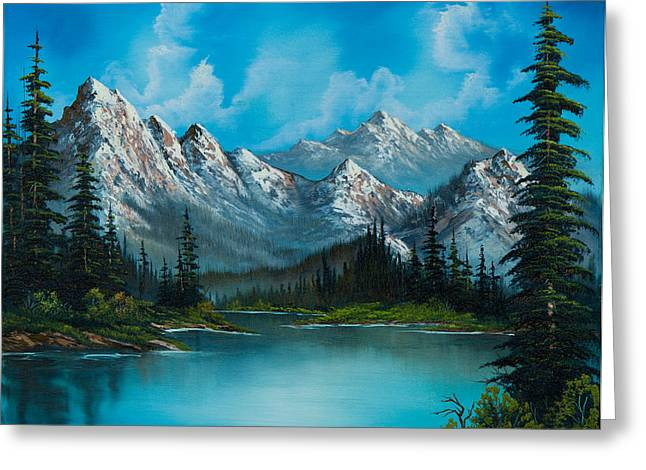 Mountain Greeting Cards - Natures Grandeur Greeting Card by C Steele