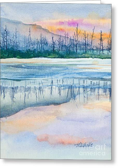 Michelle Greeting Cards - Natures Mirror Greeting Card by Michelle Wiarda