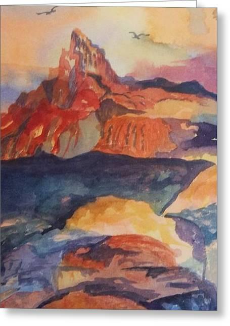 Natures Palette Greeting Card by Ellen Levinson