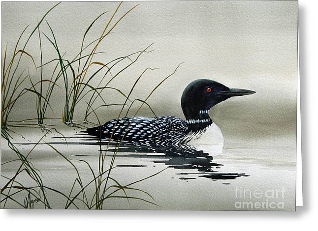 Wildlife Watercolor Greeting Cards - Natures Serenity Greeting Card by James Williamson