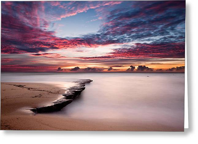 Green Clouds Greeting Cards - Natures show Greeting Card by Jorge Maia