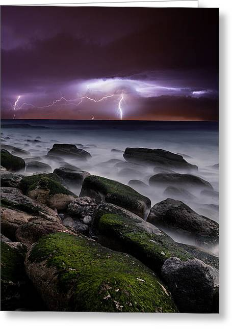 Thunderstorm Greeting Cards - Natures splendor Greeting Card by Jorge Maia