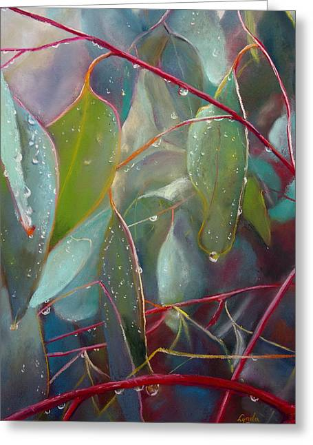 Tears Pastels Greeting Cards - Natures Tears Greeting Card by Lynda Robinson