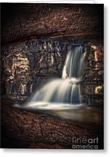 Natural Dam Arkansas Greeting Cards - Natures Window Greeting Card by Larry McMahon