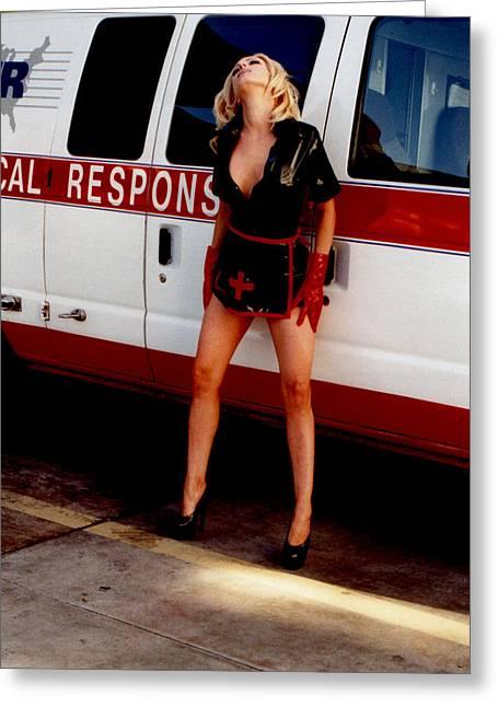 Sexy Women Framed Prints Greeting Cards - Naughty Nurse 324 Greeting Card by Liezel Rubin