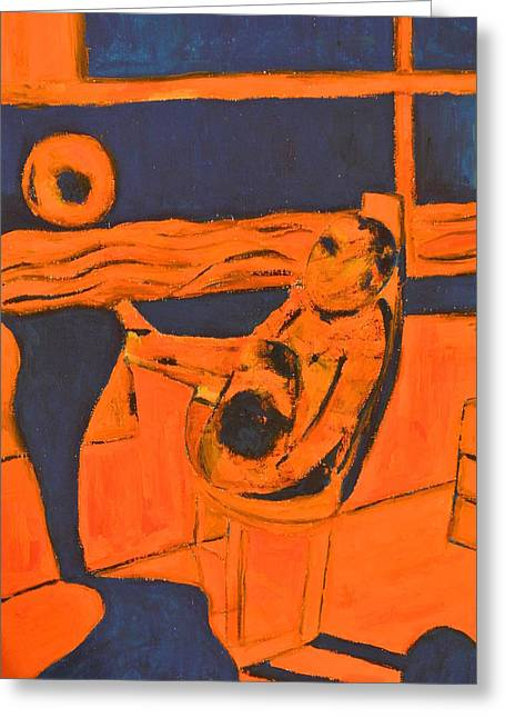 Absorb Paintings Greeting Cards - Nausea Greeting Card by Stanislav Perminov