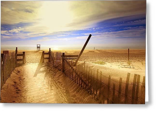 Nauset Beach Early Morning Greeting Card by Dapixara Art