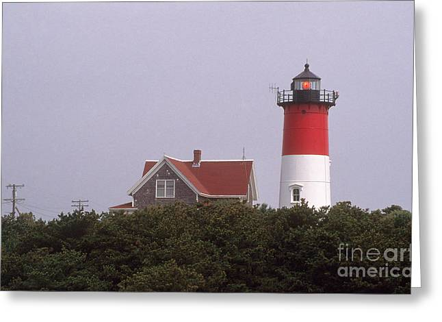 Nauset Beach Greeting Cards - Nauset Beach Lighthouse Greeting Card by Bruce Roberts