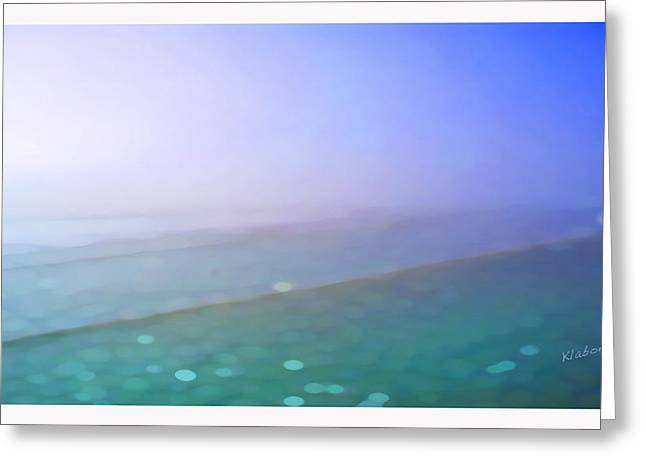 Foggy Beach Digital Art Greeting Cards - Nauset beach nine Greeting Card by David Klaboe