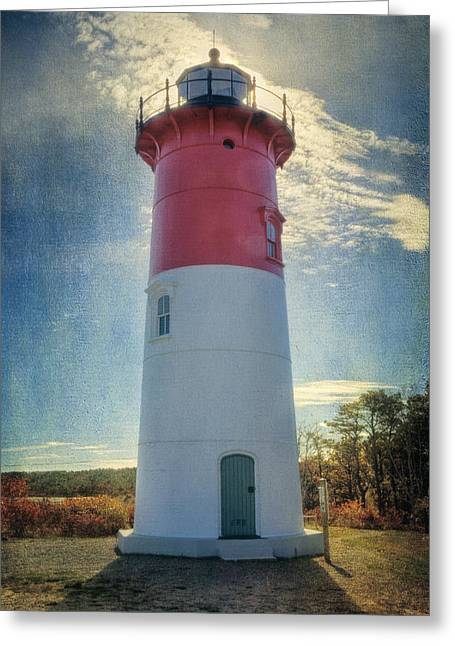 Sea View Greeting Cards - Nauset Lighthouse Greeting Card by Joan Carroll