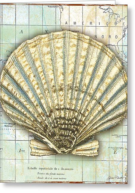 Convention Digital Art Greeting Cards - Nautical Journey-F Greeting Card by Jean Plout