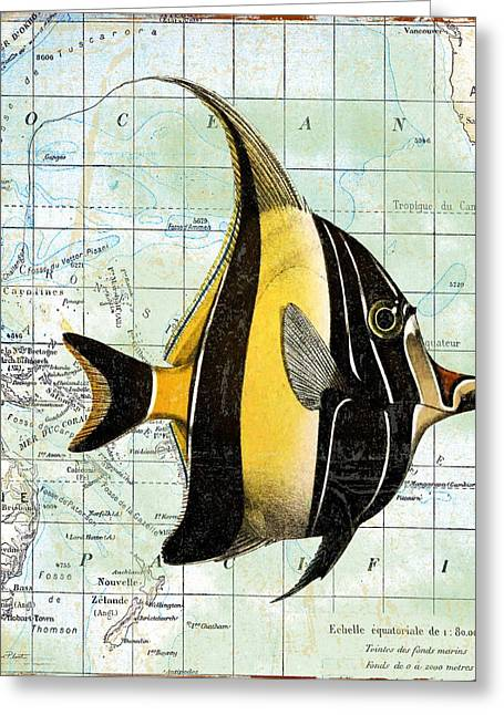 Convention Digital Art Greeting Cards - Nautical Journey-H Greeting Card by Jean Plout