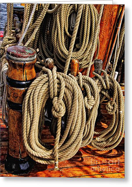 Tall Ship Greeting Cards - Nautical Knots 16 Greeting Card by Mark Myhaver