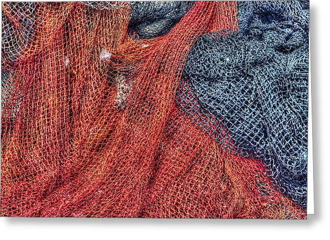 Old Fishing Gear Greeting Cards - Nautical Nets Greeting Card by Heidi Smith