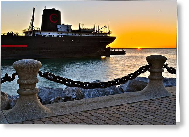 Tremendous Greeting Cards - Nautical Sunset Greeting Card by Frozen in Time Fine Art Photography